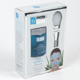 24 Units of Face Mask Gel Pore Refining With Applicator Boxed Spa Scriptions - Bath And Body