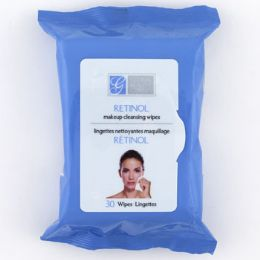 24 Units of Facial Makeup Cleansing Wipes Retinol - Bath And Body