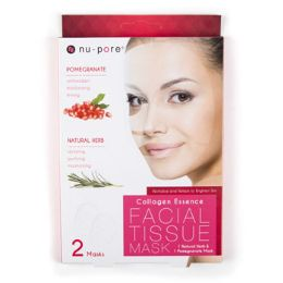 24 Units of Facial Mask Pomegranate And Herb Nupore Collagen Essence - Bath And Body