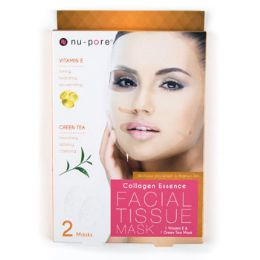 24 Units of Facial Mask Vitamin E And Green Tea Nupore Collagen Essence - Bath And Body