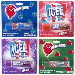 24 Units of Lip Balm Licensed Icee Airheads Carded - Bath And Body