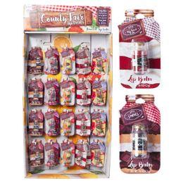 60 Units of Lip Balm Mason Jar 5 Assorted Flavors Half Power Panel - Bath And Body
