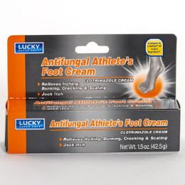 24 Units of Lucky Antifungal Athletes Foot Cream - Medical Supply