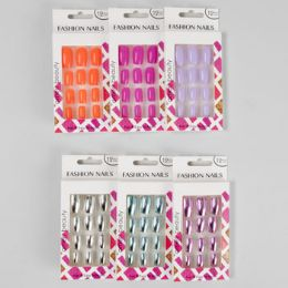 36 Units of Nails Faux Metallic And Fashion Neons Window Boxed - Manicure and Pedicure Items