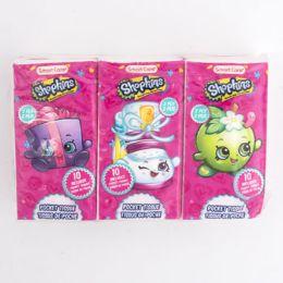 24 Units of Pocket Tissue Shopkins 6 Pack - Tissues