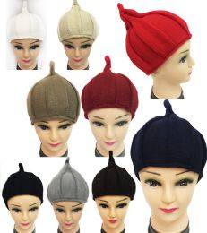 36 Units of Winter Knitted Women Hat with Pointy End Assorted Color - Fashion Winter Hats