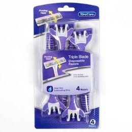 36 Units of Razors Pivot Head 4 Pack Womens Triple Blade Carded Xtracare - Shaving Razors