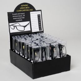 144 Units of Readers Black With Clear Case - Reading Glasses