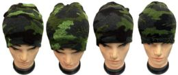 36 Units of Winter Skull Cap Ski Cap Camo Color - Winter Beanie Hats