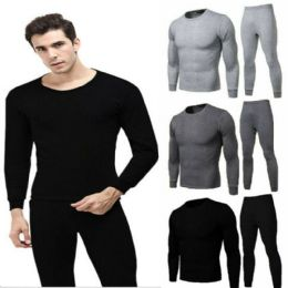 36 Units of Men Thermal Set's With Brushed Fleece Lining - Mens Thermals