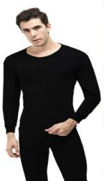 24 Units of Men Thermal Set's In Black With Brushed Fleece Lining - Mens Thermals