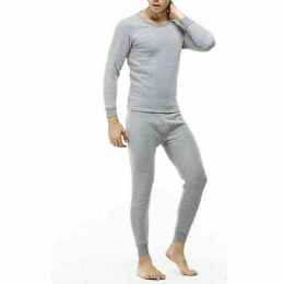 24 Units of Men Thermal Set's In Grey With Brushed Fleece Lining - Mens Thermals