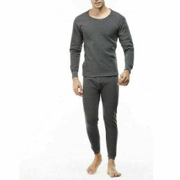 24 Units of Men Thermal Set's In Charcoal With Brushed Fleece Lining - Mens Thermals