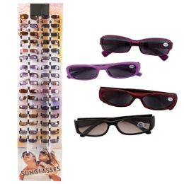 144 Units of Tinted Readers In Floor Display Assorted Magnifications Plastic Frames No Preprice - Reading Glasses