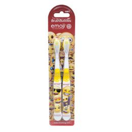 24 Units of Toothbrush Kids Emoji Carded - Toothbrushes and Toothpaste