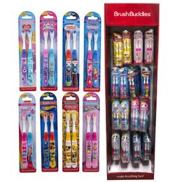 96 Units of Toothbrush Kids Two Pack Licensed Wing Display Assorted - Toothbrushes and Toothpaste