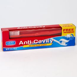 24 Units of Toothpaste With Toothbrush Anti Cavity Boxed - Toothbrushes and Toothpaste