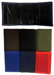 36 Units of Assorted Color Velcro TrI-Fold Wallet - Wallets & Handbags