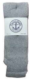 60 Units of Yacht & Smith Men's 32 Inch Premium Cotton King Size Extra Long Gray Tube Socks- Size 13-16 - Big And Tall Mens Tube Socks