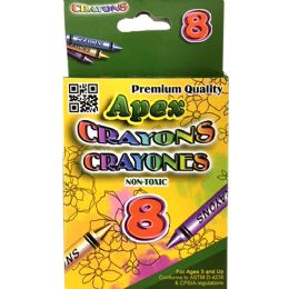 72 Units of Premium Crayons 8 Count - Crayon