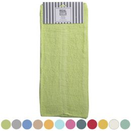 72 Units of Bath Towel Carded Assorted Colors - Towels