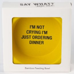 12 Units of Bowl Baby Bamboo Not Crying Ordering Dinner - Baby Shower