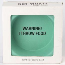12 Units of Bowl Baby Bamboo Warning I Throw Food - Baby Shower
