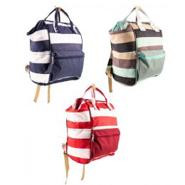 """12 Units of 14"""" Mommy Backpack Diaper Bag in 3 Assorted Colors - Baby Diaper Bag"""