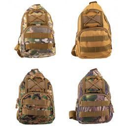"""24 Units of Sling Backpacks in 4 Assorted Camouflage Color - Backpacks 18"""" or Larger"""