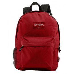 "24 Units of 18"" Classic Burgundy Backpacks with Side Mesh Water Bottle Pocket - Backpacks 18"" or Larger"