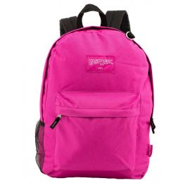 """24 Units of 18"""" Classic Hot Pink Backpacks with Side Mesh Water Bottle Pocket - Backpacks 18"""" or Larger"""