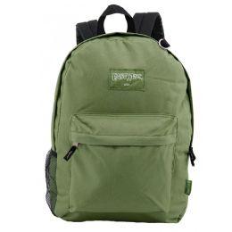 "24 Units of 18"" Classic Olive Backpacks with Side Mesh Water Bottle Pocket - Backpacks 18"" or Larger"