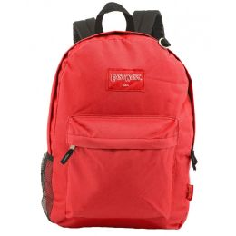 """24 Units of 18"""" Classic Red Backpacks with Side Mesh Water Bottle Pocket - Backpacks 18"""" or Larger"""