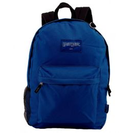 """24 Units of 18"""" Classic Navy Backpacks with Side Mesh Water Bottle Pocket - Backpacks 18"""" or Larger"""