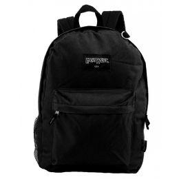 "24 Units of 18"" Classic Black Backpacks with Side Mesh Water Bottle Pocket - Backpacks 18"" or Larger"