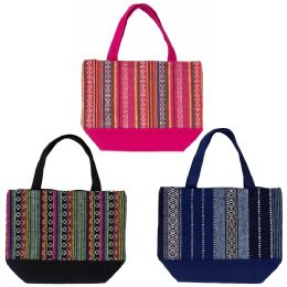 24 Units of Insulated Lunch Bags In 3 Assorted Jute Prints - Lunch Bags & Accessories
