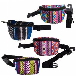 24 Units of Kids Camo Bulk Fanny Packs Belt Bags in 4 Assorted Colors - Fanny Pack
