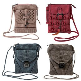 24 Units of Cell Phone Crossbody Bags In 4 Assorted Colors - Shoulder Bags & Messenger Bags
