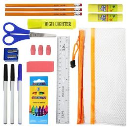 48 Units of 22 Piece Wholesale Kids School Supply Kits - School and Office Supply Gear