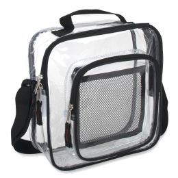 24 Units of Clear Toiletry Bag - Black - Cosmetic Cases