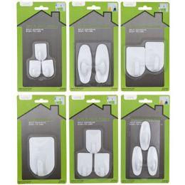 48 Units of Hooks Adhesive White Plastic - Hooks