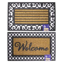 8 Units of Mat Outdoor Coco With Rubber Trim Assorted - Mats