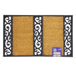 6 Units of Mat Outdoor Two Step Coco With Black Rubber Trim - Mats