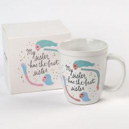 18 Units of Mug Color Glaze Stoneware My Sister Boxed - Coffee Mugs