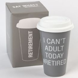 24 Units of Mug Thermal Porcelain I Can't Adult Today Boxed - Coffee Mugs