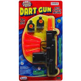 """48 Units of 7.5"""" Soft Dart Toy Uzi W/targets On Blister Card - Toy Weapons"""