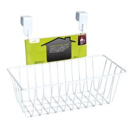 12 Units of Storage Basket Over The Door White Wire - Baskets