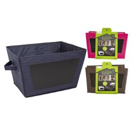 18 Units of Storage Bin Collapsible Nonwoven With Chalkboard Writing Surface - Baskets