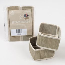 48 Units of Storage Box Straw Natural Knockdown - Baskets
