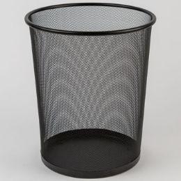 8 Units of Trash Can Mesh Metal Black - Waste Basket